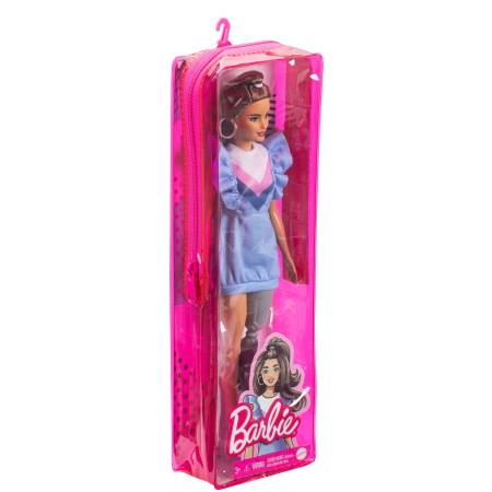 ​Barbie Fashionistas  121 with Long Brunette Hair and Prosthetic Leg Wearing